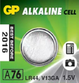 Батарейка GP Alkaline Cell A76-U10 1.5V (щелочная)