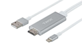 Адаптер 2E Lightening to HDMI with USB A Male Cable, Alumium Shell,2 m (2EW-2327)