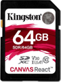 Карта памяти Kingston 64GB SDXC C10 UHS-I U3 R100/W80MB/s